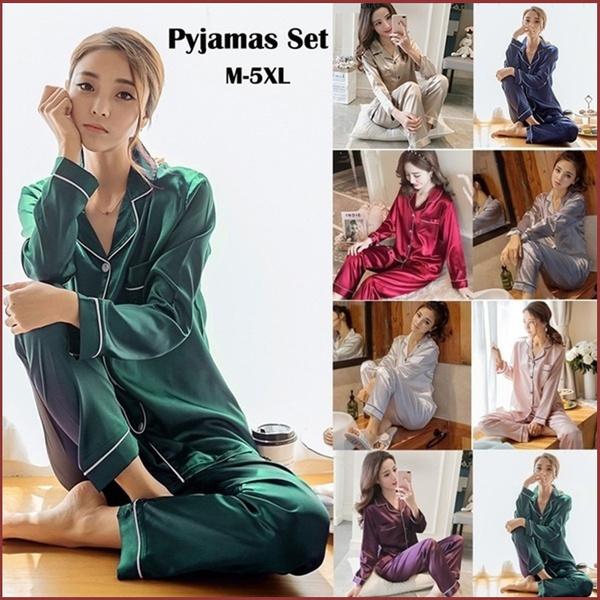 pajamaset, nightwear, Plus Size, Sleeve