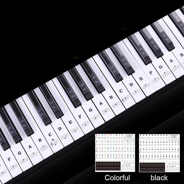 pianosticker, keyboardsticker, premiumpianosticker, decallabelnoteforpiano