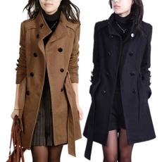 woolen, woolen coat, slim, womenovercoat