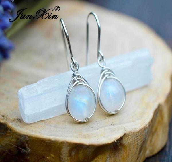 rainbow, Gemstone Earrings, Gifts, Hooks