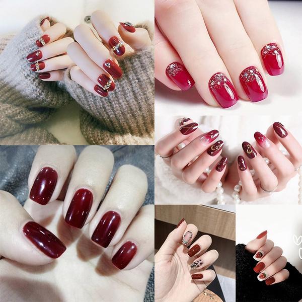Nails, DIAMOND, Beauty, falsenailswithglue