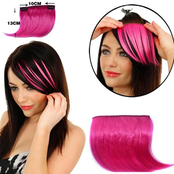 wig, naturalfakebang, colorbang, Pretty