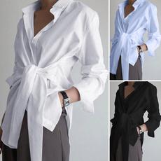 blouse, chemisefemme, Shirt, solidcolortop