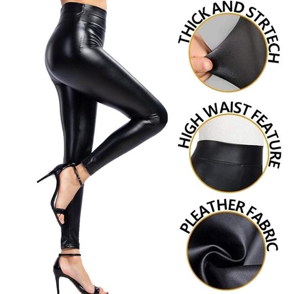 shiny leggings, Fashion, Waist, Women Leggings