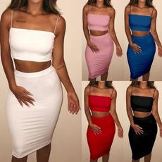 2pieceset, Plus Size, Summer, Skirts