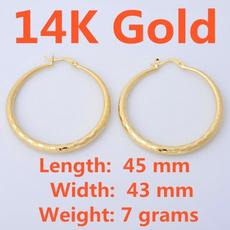 14kgoldearring, yellow gold, Hoop Earring, Jewelry