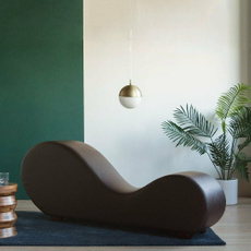 brown, loungerchair, Yoga, leather