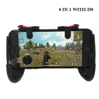 XHMCDZ Mobile Game Controller with Radiator//Mobile Phone Holder//Clamp//Clip for Mobile Phone Compatible for PUBG 3-in-1 Gamepad Shoot and Point Phone Cooling Rig Power Bank for Android and iOS