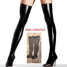 latex, latexrubberstocking, knee, latexstocking