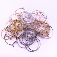 foldoverclaspcrimpbead, Jewelry, cordendtip, hoopsearring
