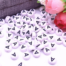 acrylicbead, alphabetletter, Jewelry, alphabetletterbead