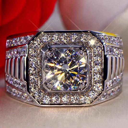 Sterling, ringsformen, crystal ring, wedding ring
