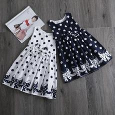 Baby, Summer, bowknot, summer dress