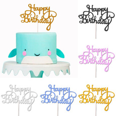 happybirthday, Decor, caketopper, Dessert