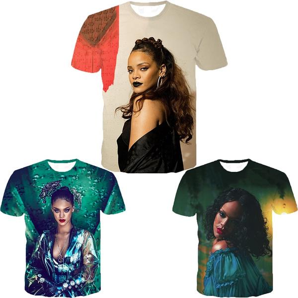 Fashion, Shirt, Tops, rihannaprinted