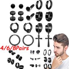 Steel, Stainless, Hoop Earring, stainless steel earrings