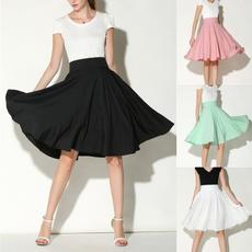 Fashion Skirts, Skater Skirt, summer skirt, high waist