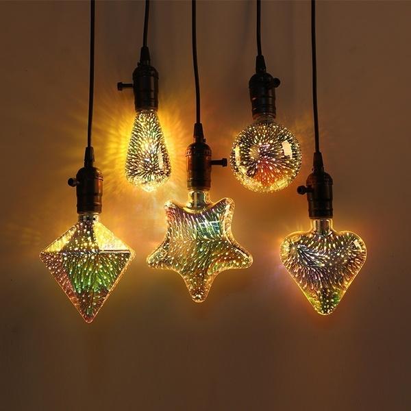 incandescentbulb, Vintage, fireworksledlight, lights