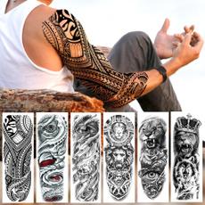 tattoo, art, blacktattoo, Sleeve
