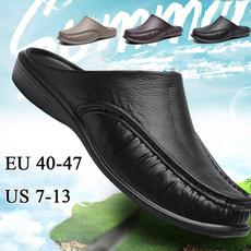 casual shoes, peashoe, Plus Size, leather shoes