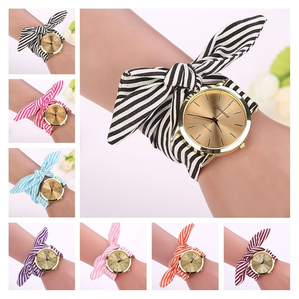 Women's Analog Watches, dial, quartz, clothstrap