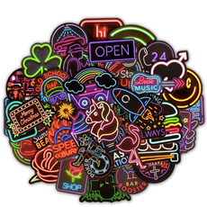cute, Stickers, Neon, fridge