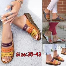 Summer, Outdoor, wedge, Slippers