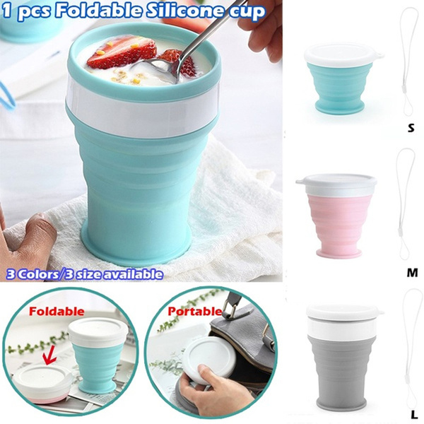 /& Outdoors Collapsible Silicone Cup Drinking Mug Coffee Cups Kitchen /& Dining