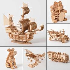 Wood, Decor, Toy, 3dpuzzlewoodentoy