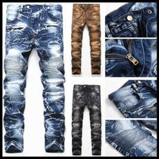 men jeans, Plus Size, skinny pants, Elastic