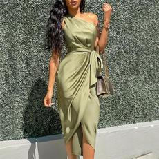 Women, fashion women, Fashion, one shoulder dress
