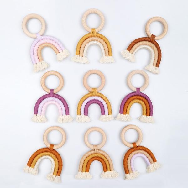 rainbow, babystuff, Jewelry, Wooden
