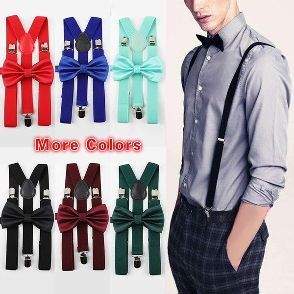 suspenders, Polyester, Colorful, bow tie