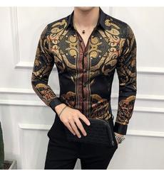 Fashion, royal of luxury, totemprintedblouse, Long Sleeve