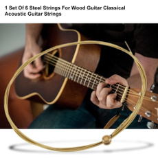 Steel, rainbow, bronzeguitarstring, guitarstring