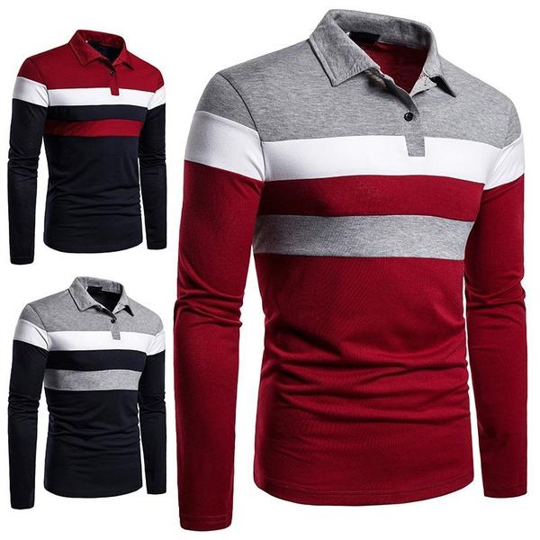 shirts for men, Fashion, Polo Shirts, Long sleeved