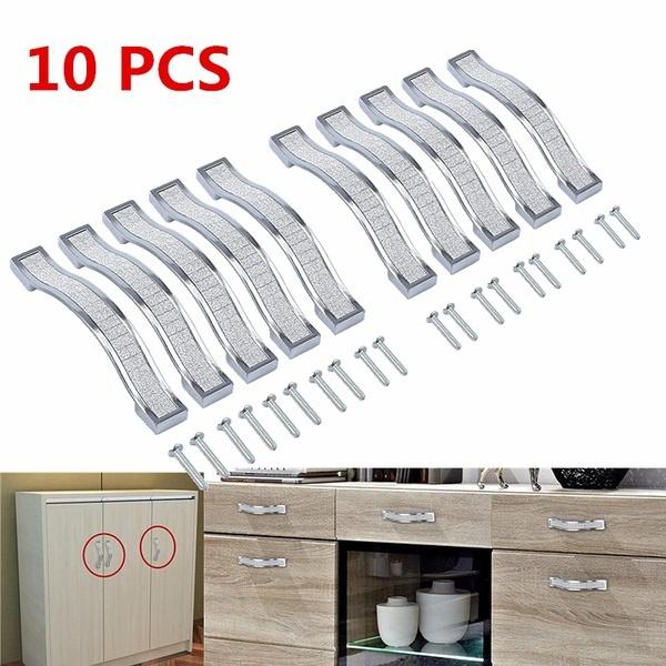 Kitchen Cupboard Cabinet Bar Door Handle Drawer Brushed Diamond Crystal HandleCW