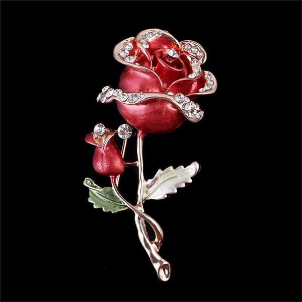 Flowers, Pins, Rose, brooch