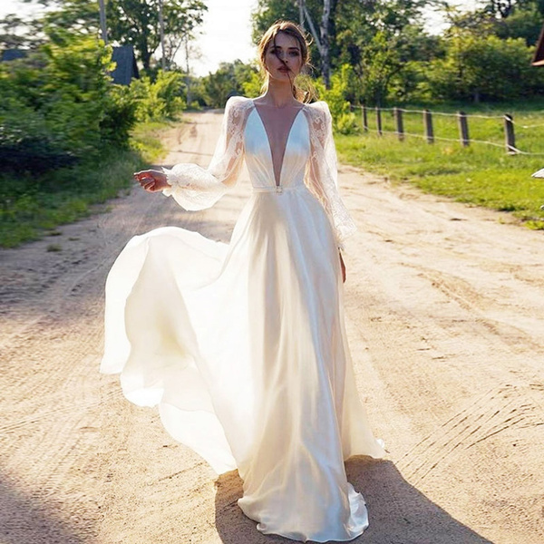 Summer, slim, Lace, long dress