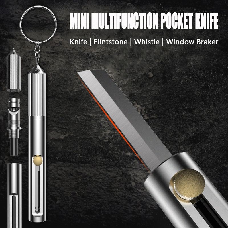 Mini Key Shaped Stainless Steel Blade Keychain Pocket EDC Outdoor Folding Kniij