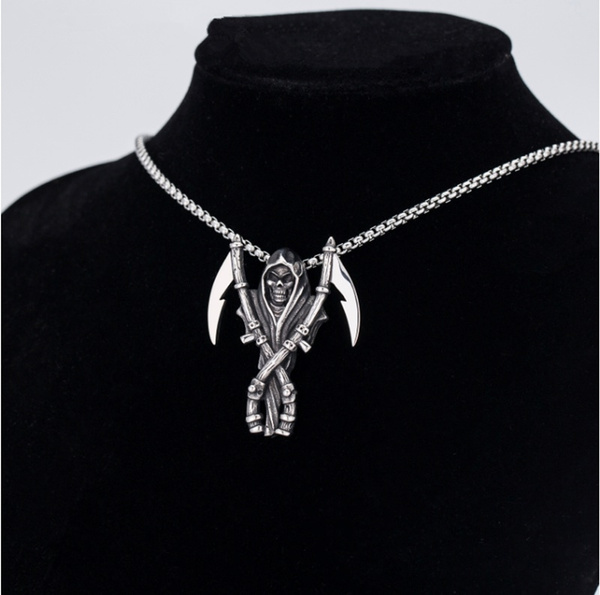 Steel, Punk jewelry, Goth, mens necklaces