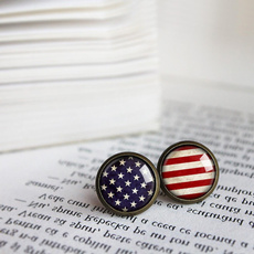 jewelryearringsstudearringsusaflagamerica, Earring, American, Jewelry