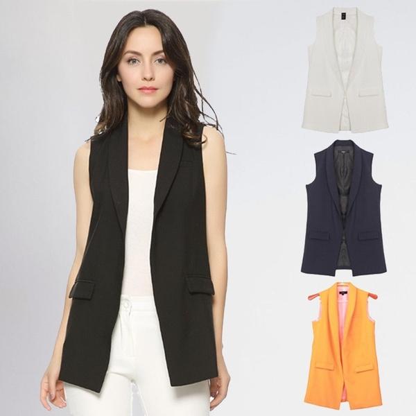 sleevelessjacketswomen, roupas femininas, Fashion, Coat