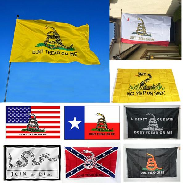 Brass, yellowsnakeflag, flagdecoration, stateflag