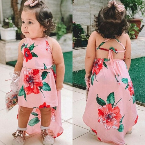 Summer, Baby Girl, Dress, backless dress