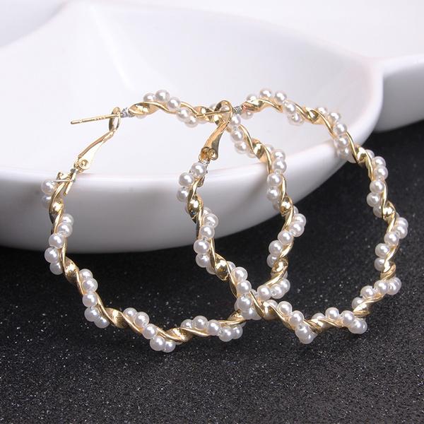 partywomenaccessorie, Hoop Earring, Jewelry, pearls