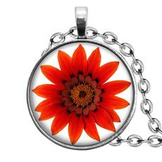 Orange, Pendant, Flowers, Jewelry