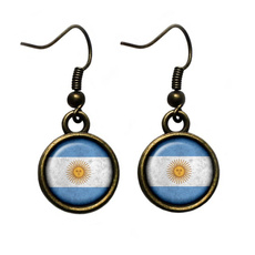 Glass, earringsstudhangingargentinaargentinianargen, Ornament