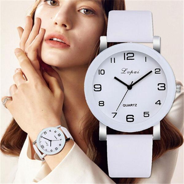 quartz, leather, Watch, Simple