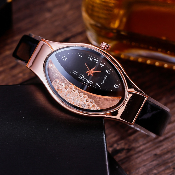 Women's Analog Watches, quartz, Casual Watches, Crystal